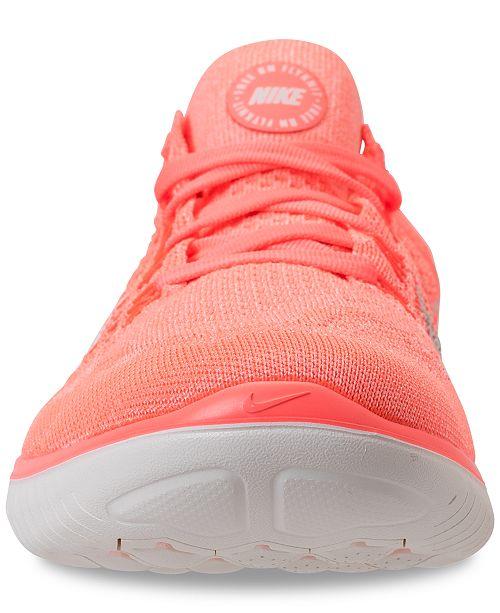 8f4d26b4797e6 Nike Women s Free Run Flyknit 2018 Running Sneakers from Finish Line ...