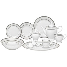Lorren Home Trends Bolla 57 Piece Dinnerware Set, Service for 8