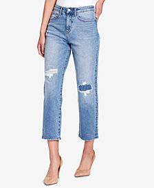 WILLIAM RAST So Cheeky Cropped Ripped Jeans