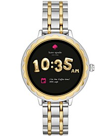 Women's Scallop Two-Tone Stainless Steel Bracelet Touchscreen Smart Watch 41mm