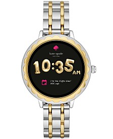 kate spade new york Women's Scallop Two-Tone Stainless Steel Bracelet Touchscreen Smart Watch 41mm