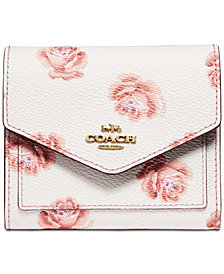 COACH Rose-Print Small Wallet