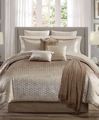 Hexan 14-Pc. Queen Comforter Set, Created for Macy's