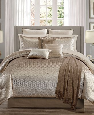 Hallmart Collectibles Hexan 14 Pc King Comforter Set Created For Macys