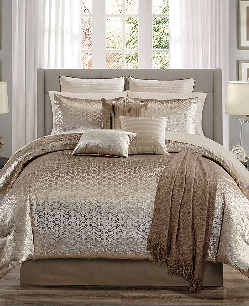 Hallmart Collectibles Hexan 14-Pc. Comforter Sets, Created for Macy's