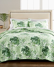 Palm Fronds 100% Cotton Quilt and Sham Collection, Created for Macy's