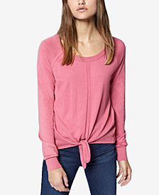 Sanctuary Long-Sleeve Tie-Front Sweater