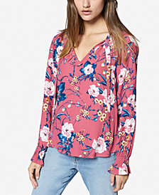 Sanctuary Floral-Print Ruffled Shirt