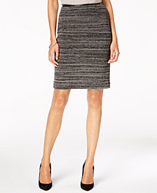 Kasper Textured Knit Slim Skirt
