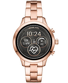 Michael Kors Access Unisex Runway Rose Gold-Tone Stainless Steel Bracelet Touchscreen Smart Watch 41mm