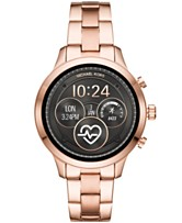 b25ce5f579b1 Michael Kors Access Unisex Runway Rose Gold-Tone Stainless Steel Bracelet  Touchscreen Smart Watch 41mm