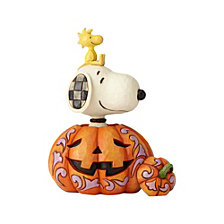CLOSEOUT! Enesco Jim Shore Harvest Pumpkin, Snoopy, Woodstock Stacked
