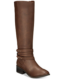Material Girl Damien Tall Wide-Calf Boots, Created for Macy's