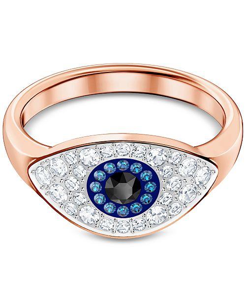 c751c35cb Swarovski Rose Gold-Tone Crystal Evil Eye Ring & Reviews - Fashion ...