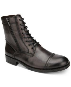 Kenneth Cole Men's Hugh Leather Boots Men's Shoes 6641003