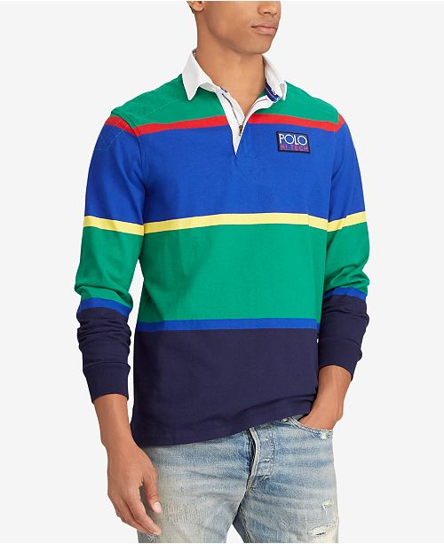 d7a422c0b3bf ... Polo Ralph Lauren Men s Big   Tall Hi Tech Cotton Striped Rugby Classic  ...