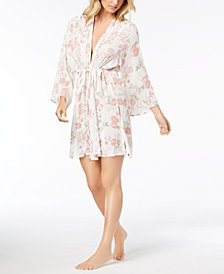 Linea Donatella Day Dream Floral-Print Wrap Robe