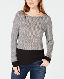I.N.C. Layered-Look Knit Top, Created for Macy's