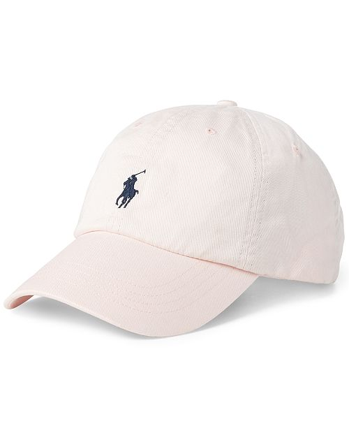 fa6bec802ad Polo Ralph Lauren Men s Pink Pony Cotton Baseball Cap - Hats
