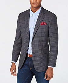 Tommy Hilfiger Men's Modern-Fit THFlex Stretch  Gray/Navy Check Sport Coat