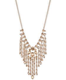 """Givenchy Gold-Tone Stone Fringe 22"""" Statement Necklace"""