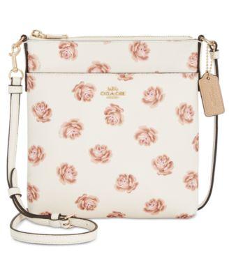 coach rose print messenger crossbody handbags accessories macy s rh macys com