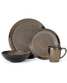 Mikasa Reed Gray 16-Piece Dinnerware Set