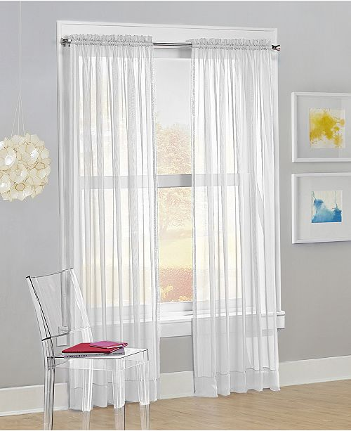 "Lichtenberg No. 918 Calypso 59"" x 63"" Sheer Curtain Panel"