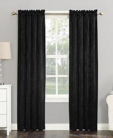 "Sun Zero Cassidy 52"" x 95"" Textured Velvet Blackout Rod Pocket Curtain Panel"