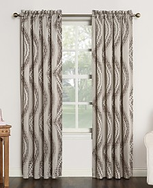 CLOSEOUT! Sun Zero Coda Room Darkening Woven Curtain Panel Collection