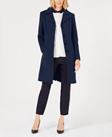 Anne Klein Petite Single-Breasted Coat