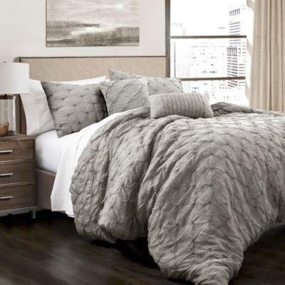 Ravello Pintuck Full/Queen Comforter 5Pc Set