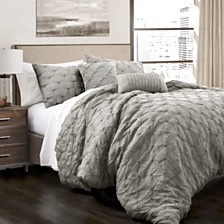 Ravello Pintuck Full/Queen Comforter 5Pc Set