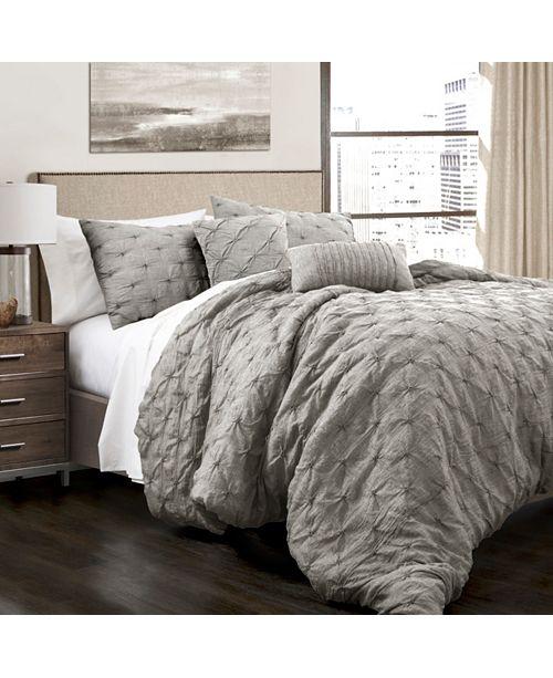 Lush Decor Ravello Pintuck Full/Queen Comforter 5Pc Set