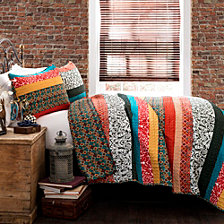 Boho Stripe King Quilt 3pc Set