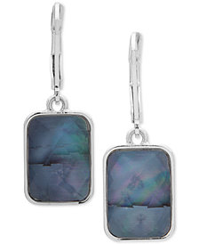 Nine West Silver-Tone Stone Drop Earrings