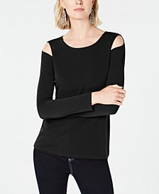 INC Cold-Shoulder Top, Created for Macy's