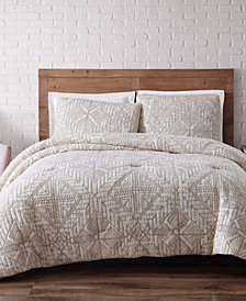 Brooklyn Loom Sand Washed Cotton Full/Queen Duvet Set