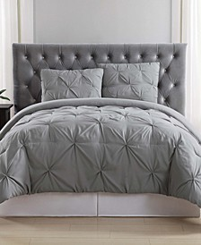 Pleated Twin Duvet Set