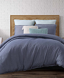Brooklyn Loom Chambray Loft King 3 Piece Duvet Cover Set