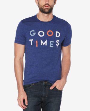 ORIGINAL PENGUIN Men'S Good Times Graphic T-Shirt in Blue