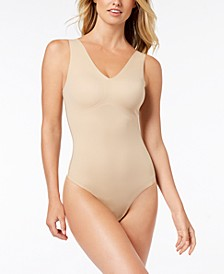 Invisibles Comfort V-Neck Thong Bodysuit QF4892