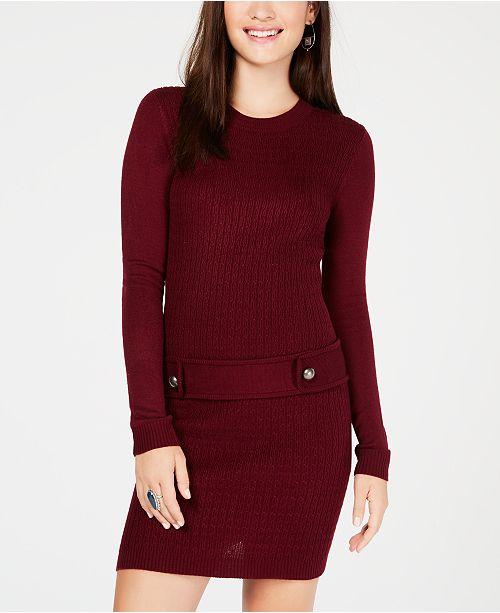 Bcx Juniors Solid Sweater Dress Dresses Juniors Macys