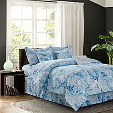 Carrera Blue 7-Piece Comforter Set, Queen