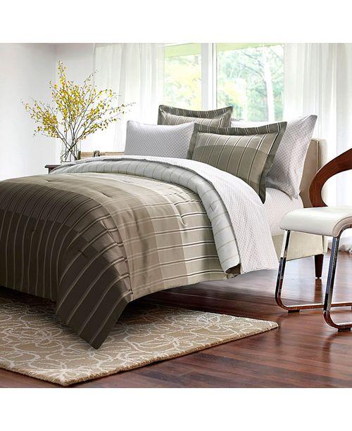 Ombre Stripe 8 Piece Bed In Bag Queen