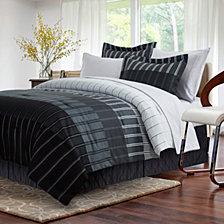 Ombre Stripe Gray 8-piece Bed-In-Bag, Queen
