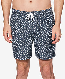 "Original Penguin Men's Snowflake-Print 6"" Swim Shorts"
