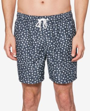 "ORIGINAL PENGUIN Men'S Snowflake-Print 6"" Swim Shorts in Dark Sapphire"