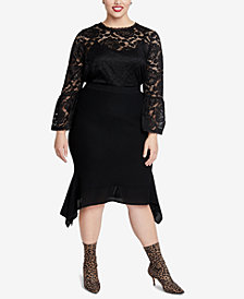 RACHEL Rachel Roy Trendy Plus Size Lace Top