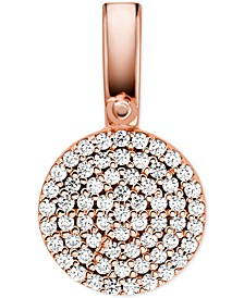 Women's Custom Kors Sterling Silver Pave Disc Charm